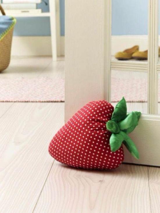 bastelideen für erwachsene türstopper erdbeere