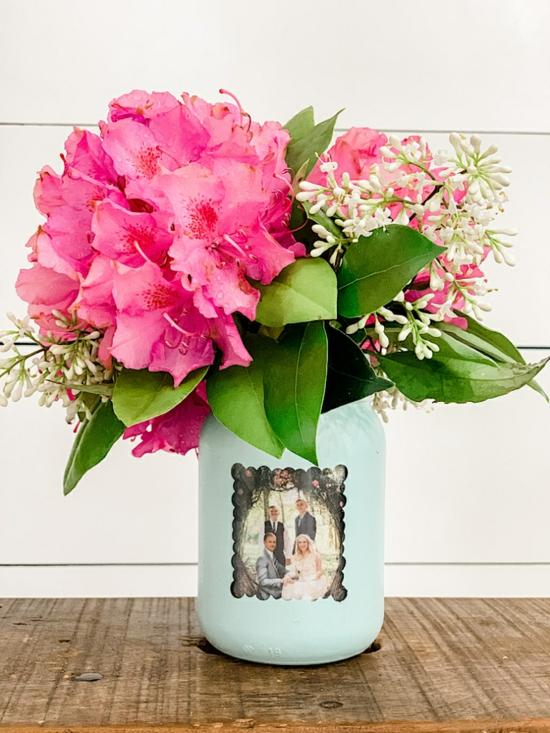 bastelideen für erwachsene vase fotogeschenk