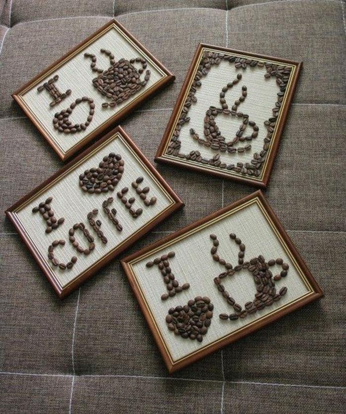 basteln mit kaffeebohnen bild