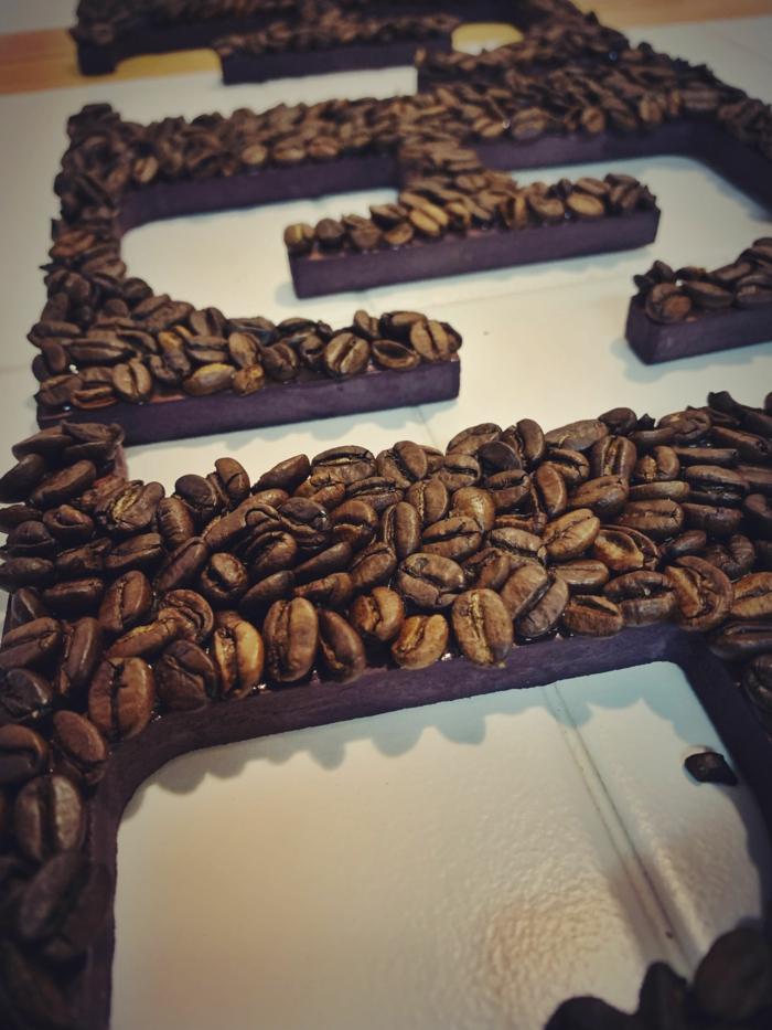 basteln mit kaffeebohnen blume