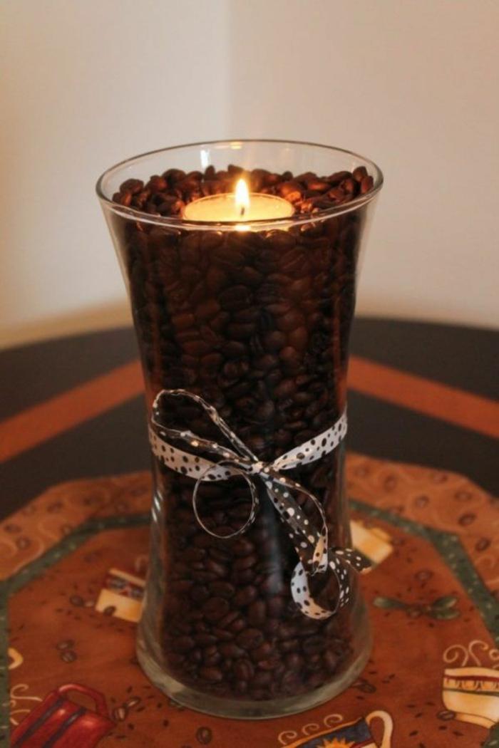 basteln mit kaffeebohnen duftkerzen selber machen