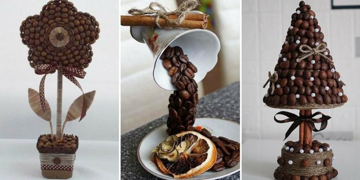 basteln mit kaffeebohnen glanz