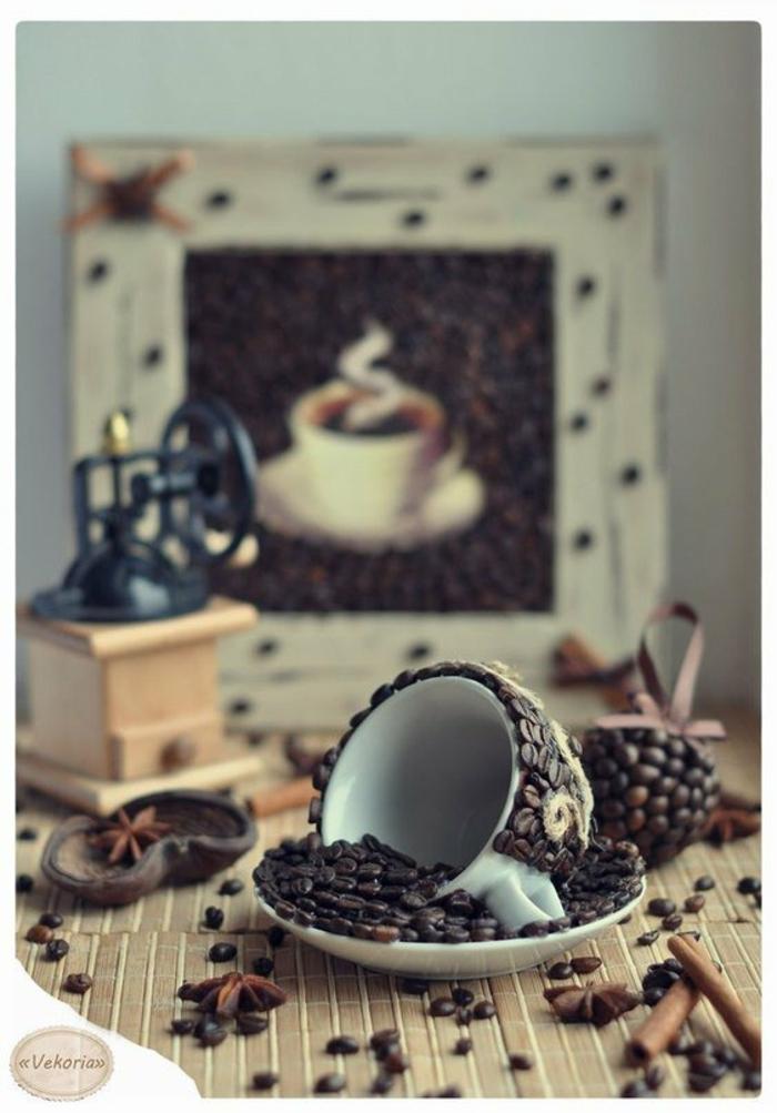 basteln mit kaffeebohnen kitsch