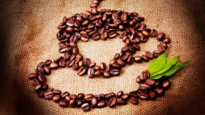 basteln mit kaffeebohnen malen mit bohnen