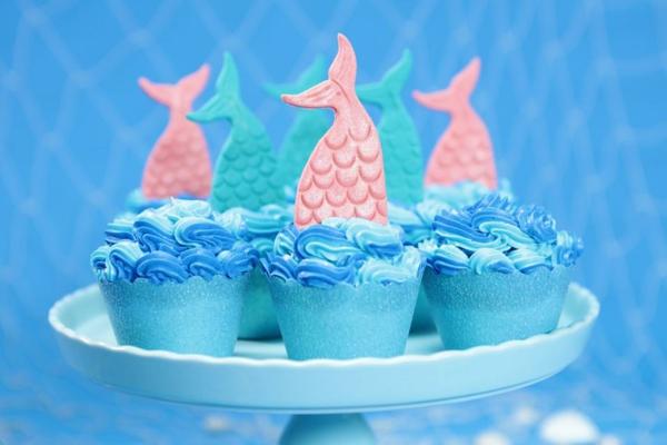 blaue meerjungfrau muffins selber machen