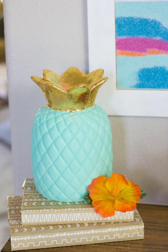 dekoidee selbermachen bastelideen für erwachsene ananas basteln