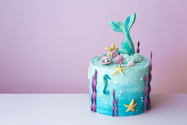 designer meerjungfrau torte dekorieren