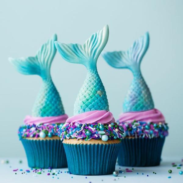 fabelhafte meerjungfrau muffins