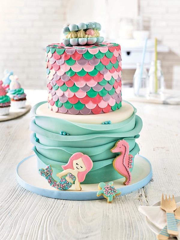 fabelhafte meerjungfrau torte zum geburtstag
