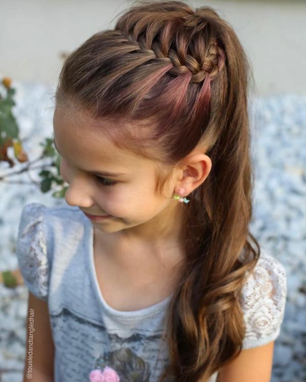 flechtfrisuren kinder lange haare