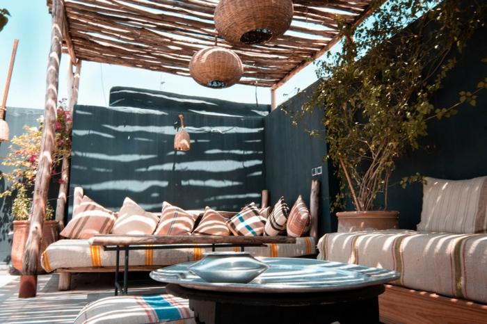 gartengestaltung modern decking gartenweg anlegen auf dem dachjpg