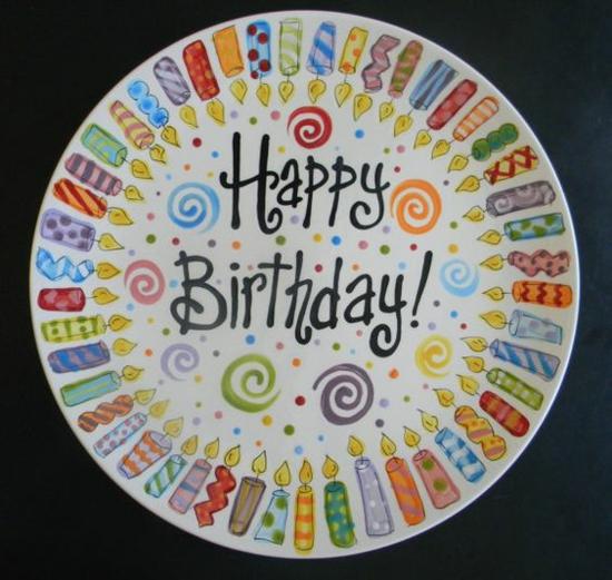 happy birthday Teller bemalen geschenkideen