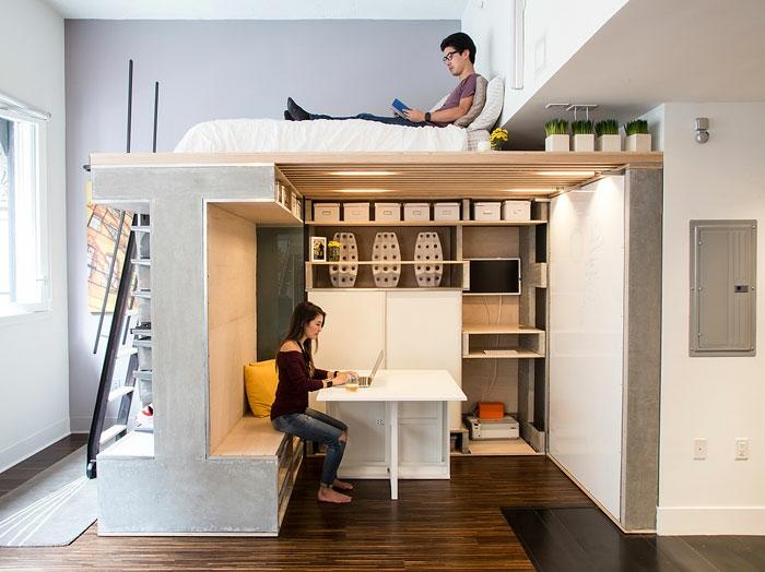 kleine wohnung einrichten einrichtungsbeispiele einzimmerwohnung deko ideen