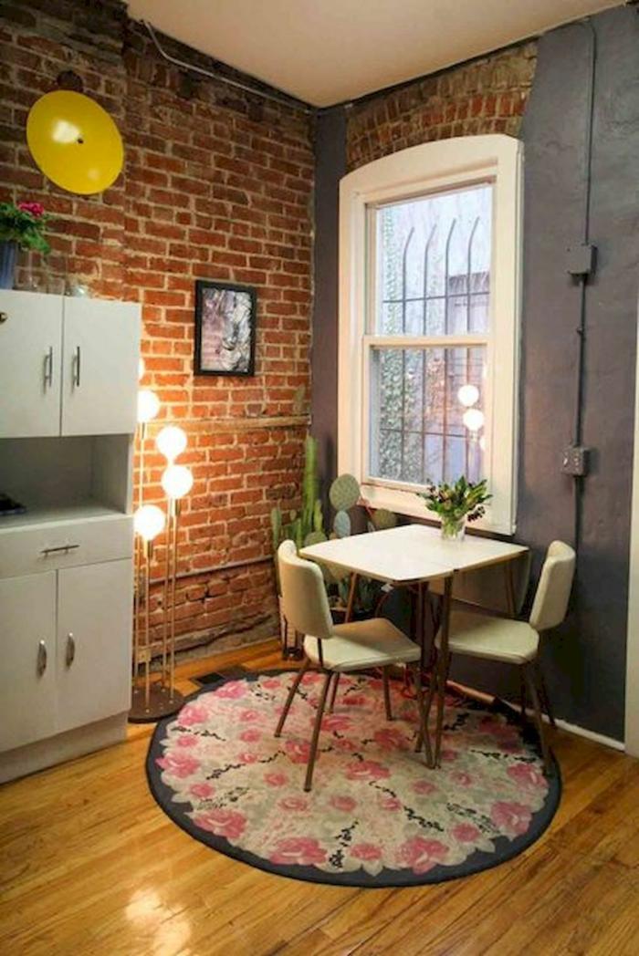 kleine wohnung einrichten einrichtungsbeispiele einzimmerwohnung raumtrenner modern esszimmer ideen
