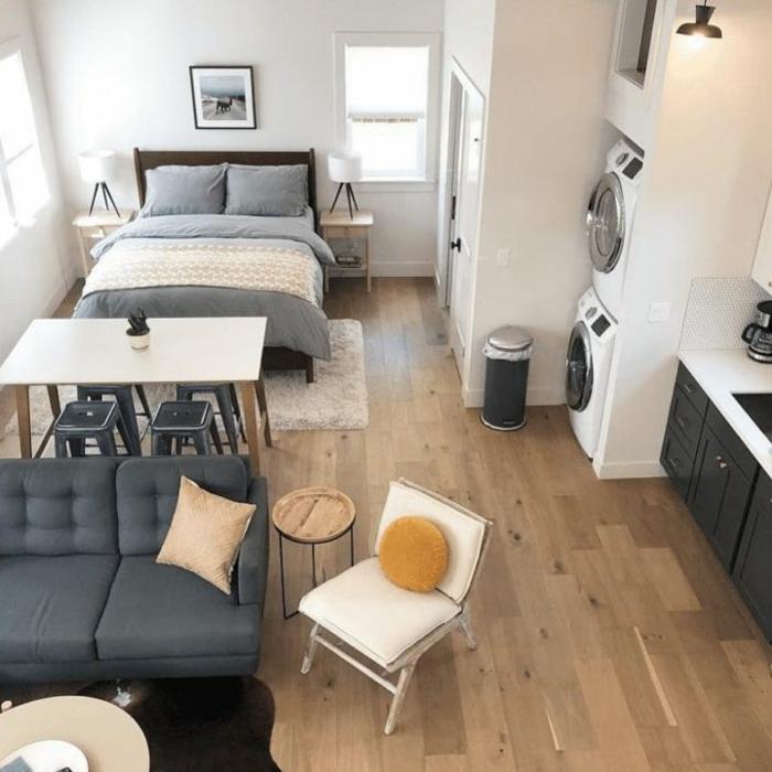 kleine wohnung einrichten einrichtungsbeispiele einzimmerwohnung vertikal