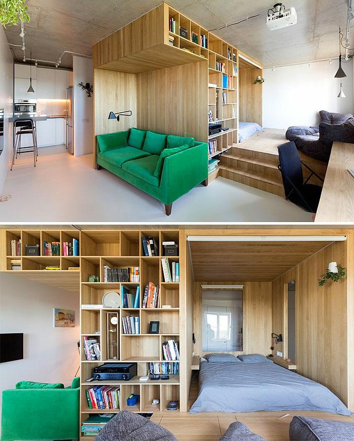 kleine wohnung einrichten einrichtungsbeispiele einzimmerwohnung vertikalen raum