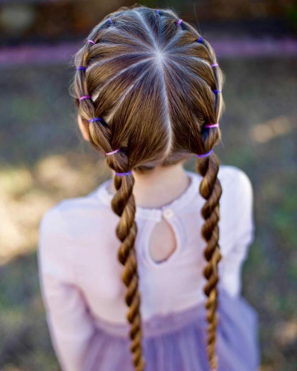 lange haare flechtfrisuren kinder zöpfe