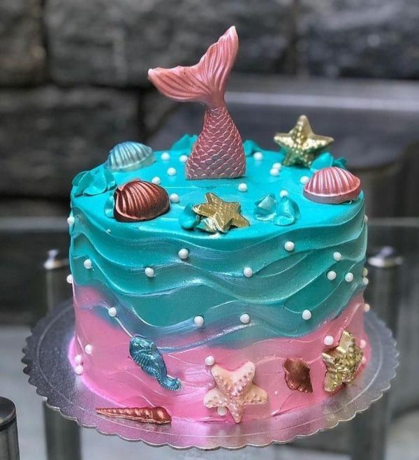 lbau rosa meerjungfrau torte zubereiten
