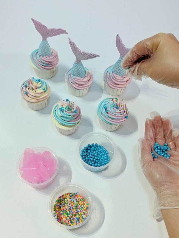 meerjungfrau cupcakes dekorieren