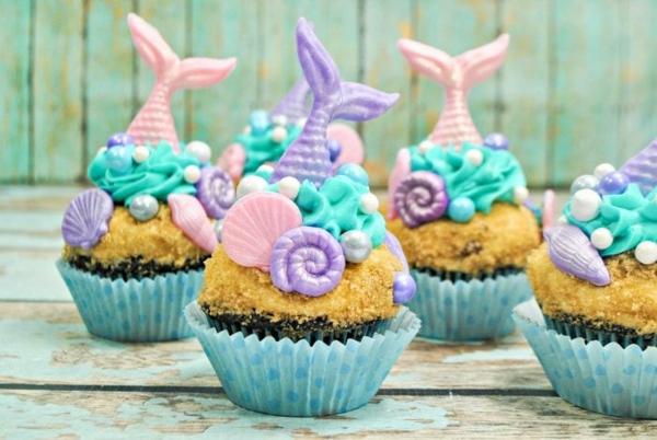 meerjungfrau cupcakes selber machen