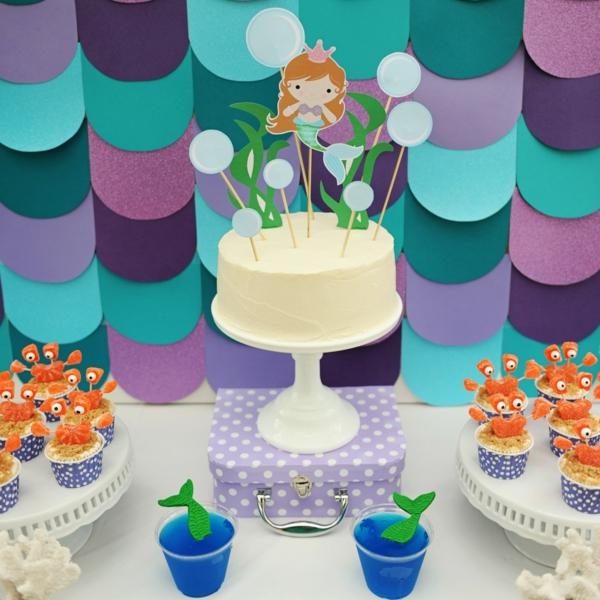 meerjungfrau torte kindergeburtstag