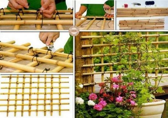 rankhilfe selber bauen aus bambus anleitung