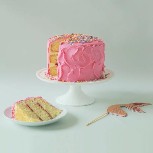 rosafarbene meerjungfrau torte selber machen