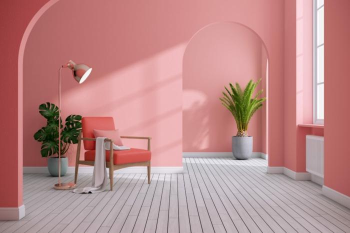 rosatöne schlafzimmer farbe raumfuellend