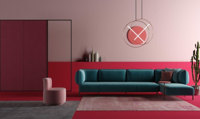rosatöne wandfarbe einrichtungsideen