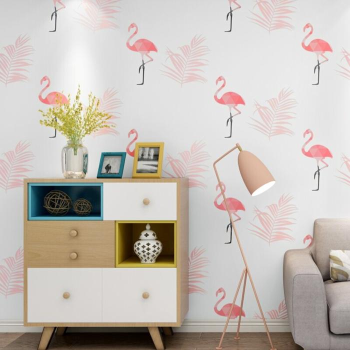 rosatöne wandfarbe flamingo