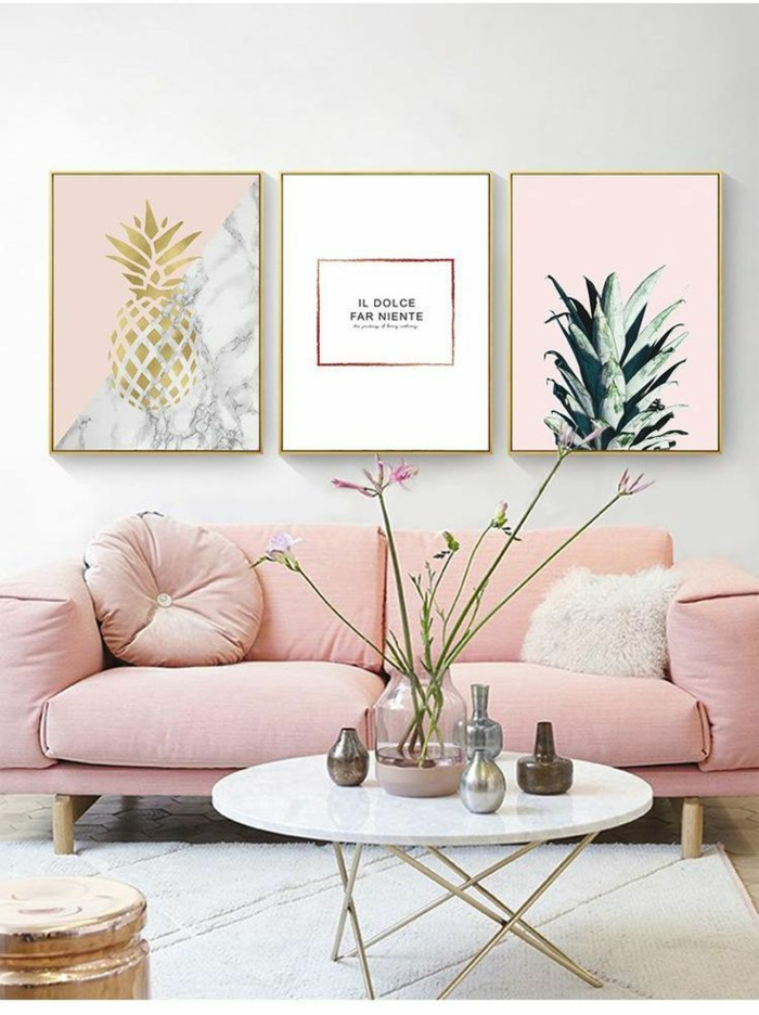 rosatöne wandfarbe sessel