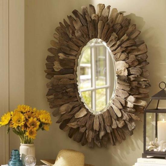 spiegel dekorieren bastelideen für erwachsene