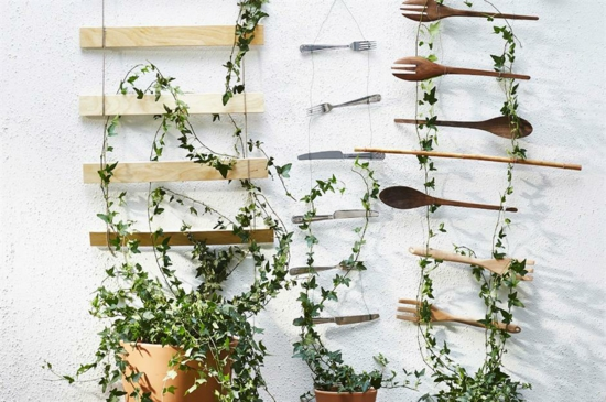 upcycling rankhilfe selber bauen aus holz metall utensilien