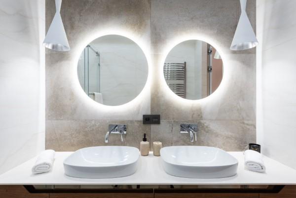 Badezimmerlampen – Kaufratgeber rund um die Beleuchtung moderne spiegel ideen licht