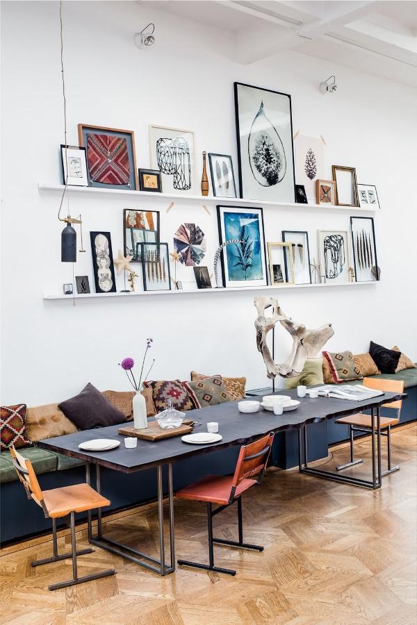 Bilderleiste dekorieren – Ideen und Tipps für eine kreative Wandgestaltung esszimmer deko ideen