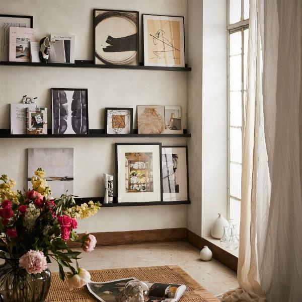 Bilderleiste dekorieren – Ideen und Tipps für eine kreative Wandgestaltung fotowand kreative alternative