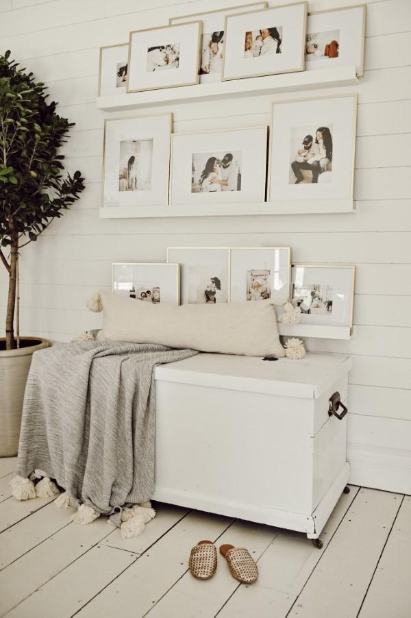 Bilderleiste dekorieren – Ideen und Tipps für eine kreative Wandgestaltung hochzeit weiß dezent