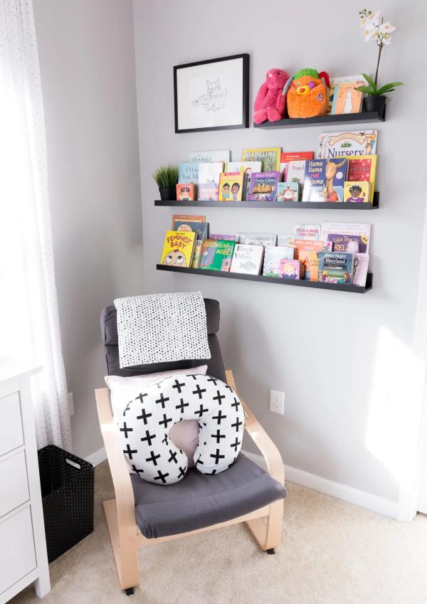 Bilderleiste dekorieren – Ideen und Tipps für eine kreative Wandgestaltung kinderzimmer leseecke groß und klein