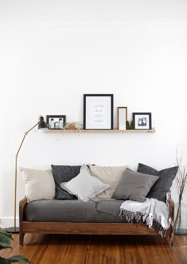 Bilderleiste dekorieren – Ideen und Tipps für eine kreative Wandgestaltung minimalistische deko wand