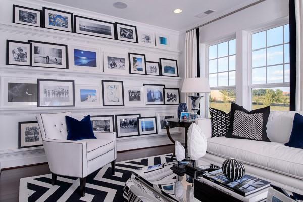 Bilderleiste dekorieren – Ideen und Tipps für eine kreative Wandgestaltung modernes wohnzimmer industrial