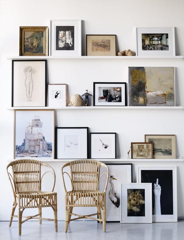 Bilderleiste dekorieren – Ideen und Tipps für eine kreative Wandgestaltung retro ideen boden deko wand