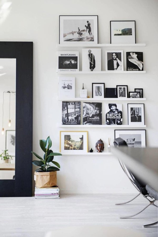 Bilderleiste dekorieren – Ideen und Tipps für eine kreative Wandgestaltung schwarz weiß foto ideen