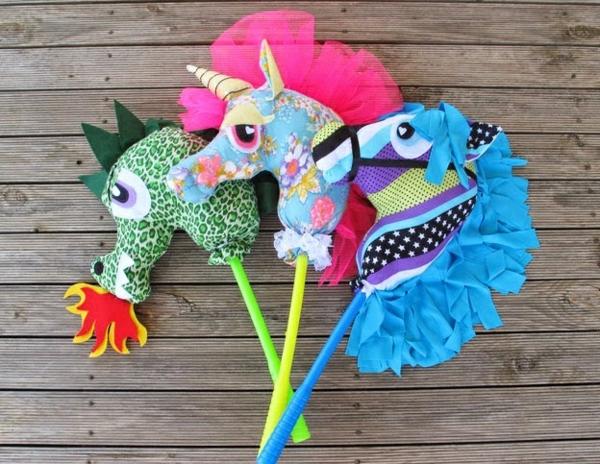 DIY Steckenpferd basteln Kinderspielzeug selber machen