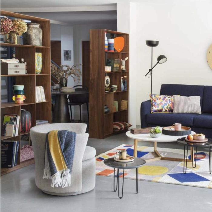 Designer Regale Wohnzimmer stahl leaf