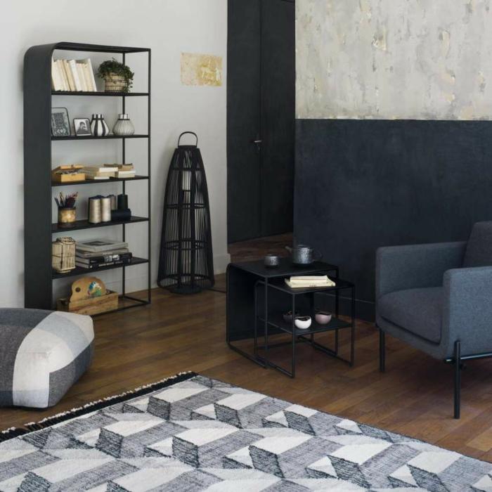 Designer Regale Wohnzimmer stahl vik