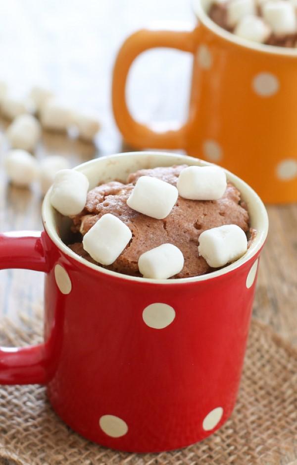 Einfache, schnelle und gesunde Tassenkuchen Rezept Ideen aus der Mikrowelle schokokuchen marshmallow rezept
