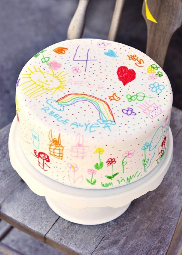 Farbenfrohe und köstliche Regenbogenkuchen Rezept Ideen kinderparty kuchen fondant