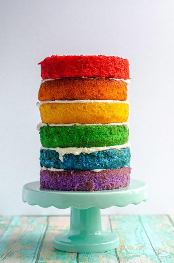 Farbenfrohe und köstliche Regenbogenkuchen Rezept Ideen kuchen deko ideen bunt