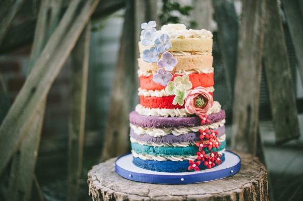 Farbenfrohe und köstliche Regenbogenkuchen Rezept Ideen nackter kuchen ohne sahne