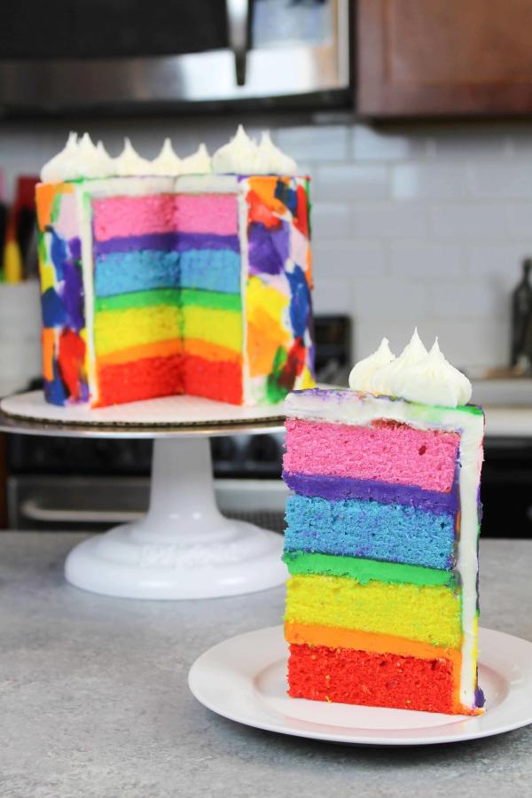 Farbenfrohe und köstliche Regenbogenkuchen Rezept Ideen regenbogen bunt farbenfroh lecker